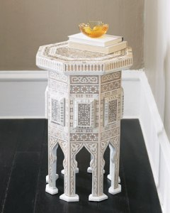 "Ivory ""Moroccan"" Table"
