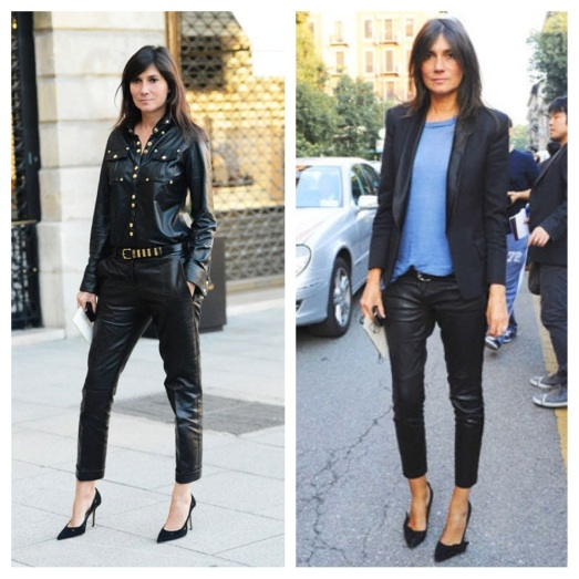 Emmanuelle-Alt-in-Black-Leather-Pants